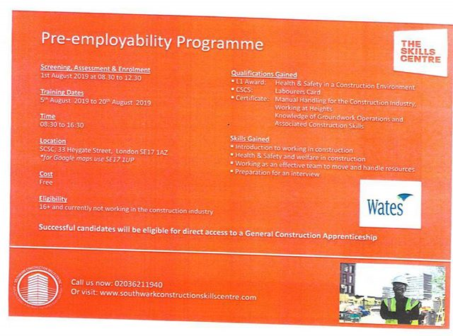 Call us to sign up for our next Pre-Employment course! Three recognised qualifications in only three weeks!