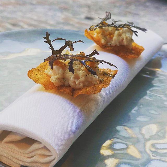 "How would you like to start your evening with three crispy, intense and fresh snacks? We say ""Yes, please!"" #amusebouche #adcoutelas #chefsplateform #wonderfulevening #wonderfulcopenhagen"