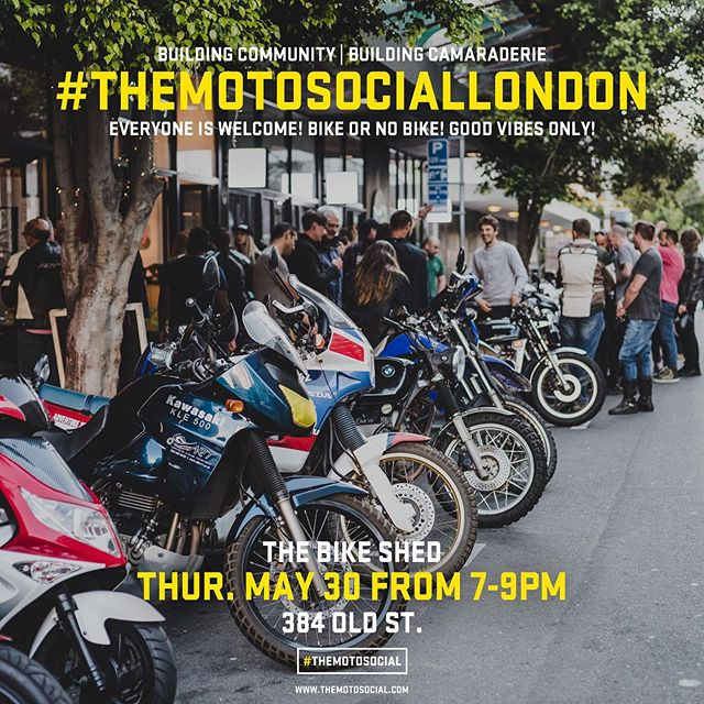 I've been watching the motosocial progress with envy for a few years now with people like @mrpixelhead killing it in San Francisco. Well, now it's launching in London! Please show your support, get involved, make some new friends! See you there!  @themotosocial  #TheMotoSocial #TheMotoSocialLondon