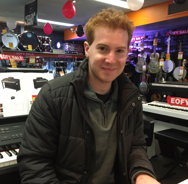 Aaron Pelle is a piano tutor, composer and music teacher currently studying a Bachelor of Music (Composition). He teaches piano and guitar privately, and has tutored in many South Australian schools such as North Haven Primary and Kilkenny Primary. He has accompanied high school choirs and has had his music performed by artists such as Konstantin Shamray. He is also certified to instruct students in CVP Clavinova digital piano technology