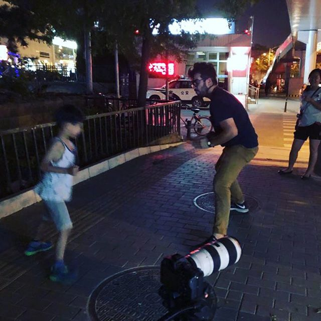 Another Beijing throwback... the star of our next video (up way past his bedtime) trying to evade the police. Directed by totally heroic @parker.marina