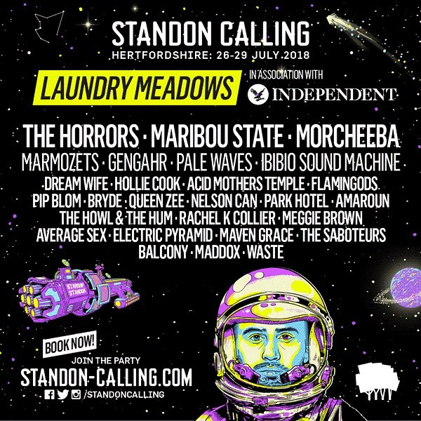 Line up for Laundry Meadows stage at Standon Calling. Come see us on Sunday afternoon @standoncalling