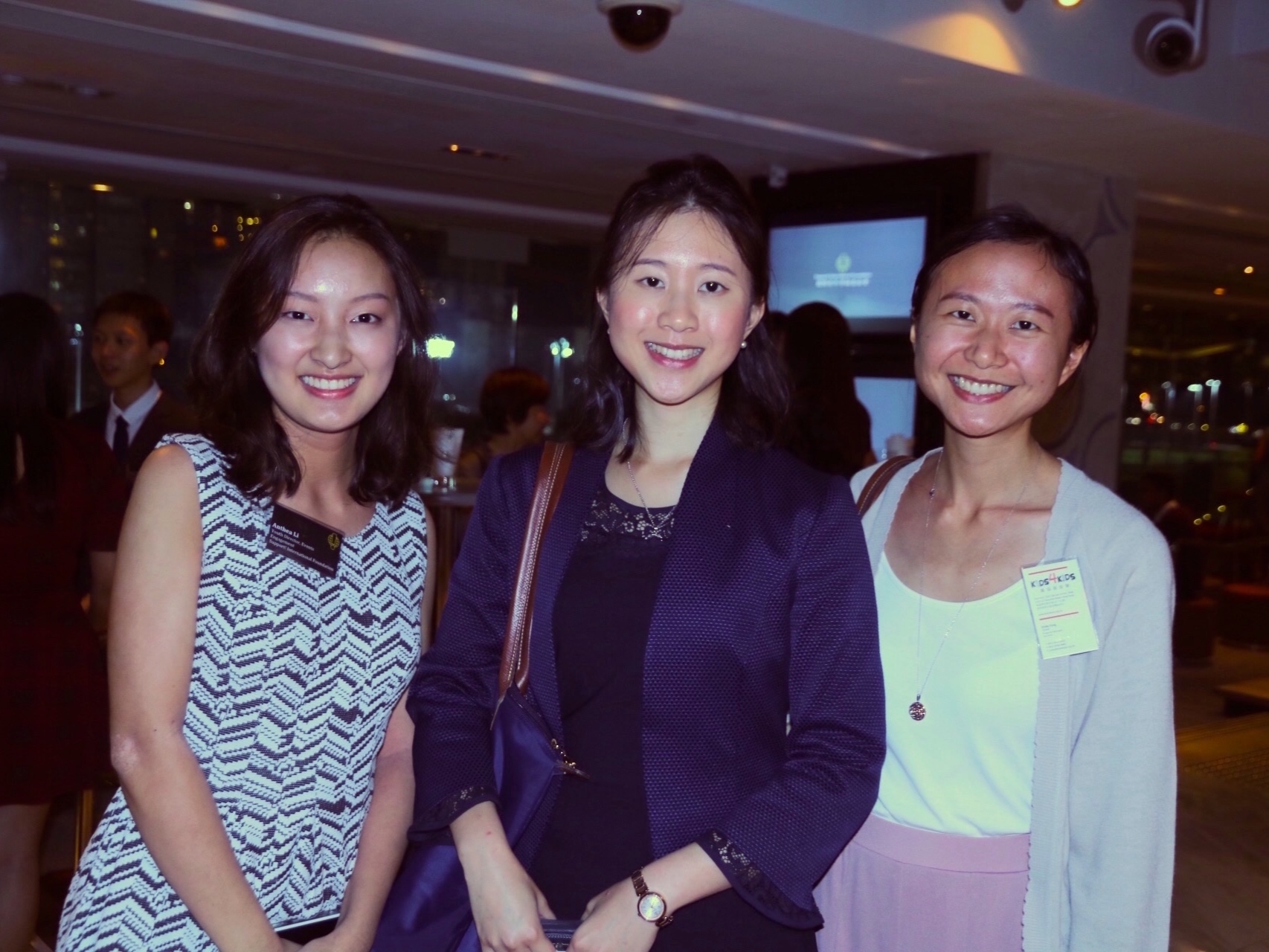 Youth Director, Events Engagement Anthea Li with Elizabeth Fung, Political Assistant to the Secretary for Commerce and Economic Development; and Cindy Fung, Program Manager at Kids4Kids