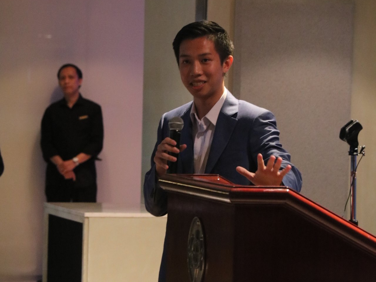 Founder and President Joseph Wan sharing the vision of Support!, and why it was established