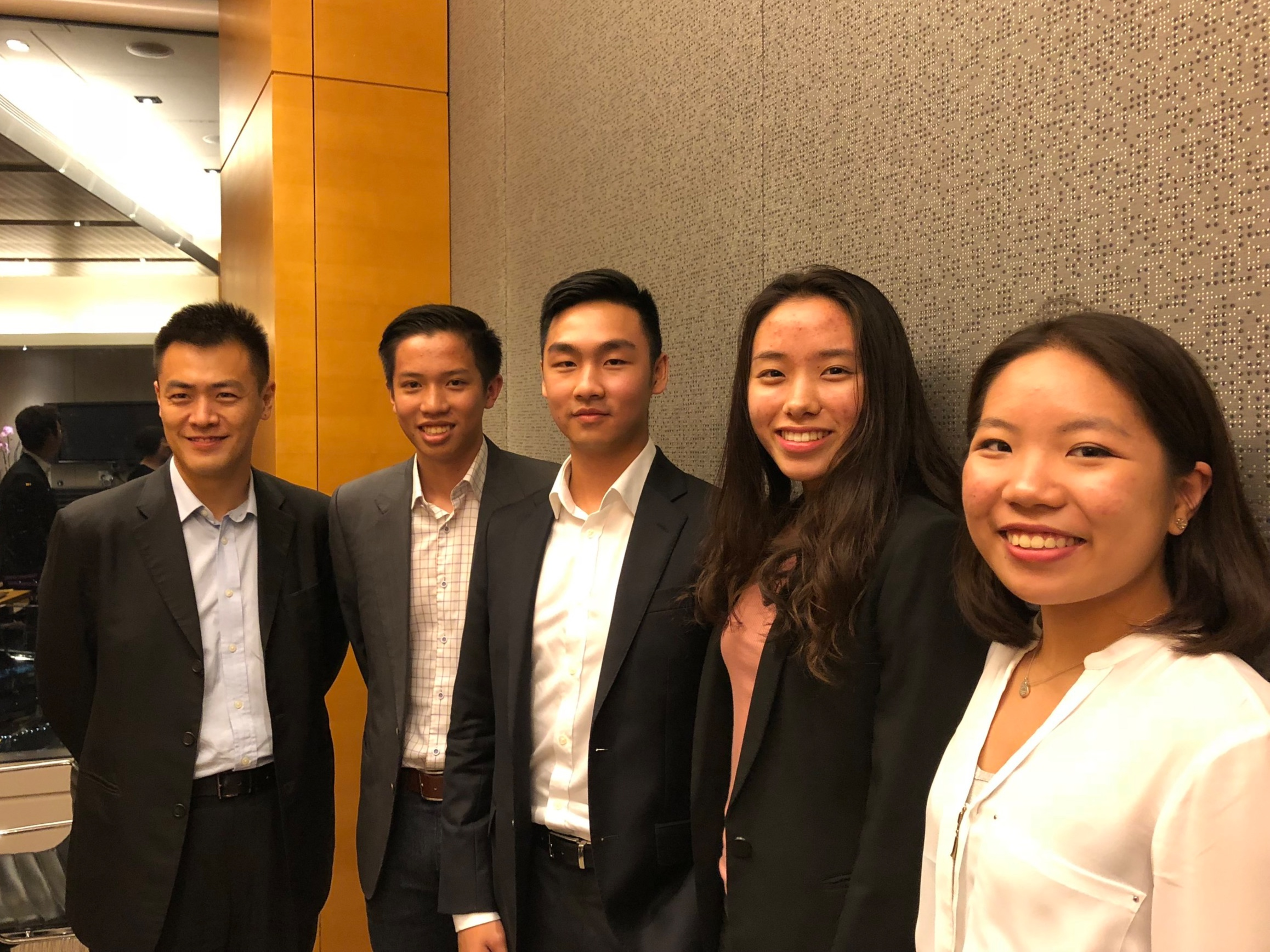 Mr. Ming Wai Lau, GBS, JP, Chairman (1st Left), Mr. Joseph Wan, Founder and President (2nd Left), Mr. Ian Chu, Senior Vice President, Policy (3rd Left), Ms. Kerry Hsu, Senior Vice President, Operations (2nd Right), Harriet Kwok, Senior Vice President, Communications (1st Right)