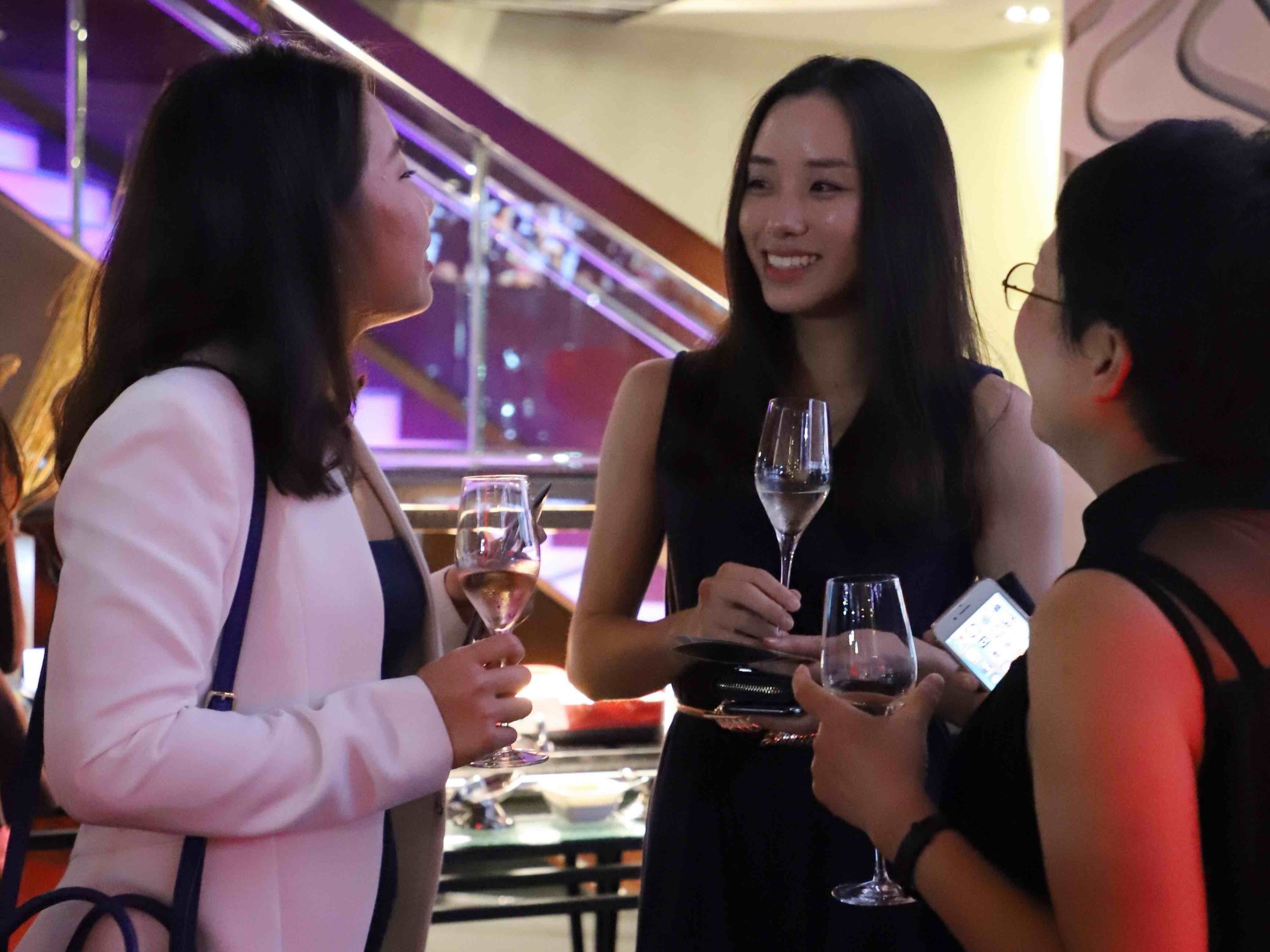Founding Member and Senior Vice President, Operations Kerry Hsu with Harriet Kwok and Peonie Wong