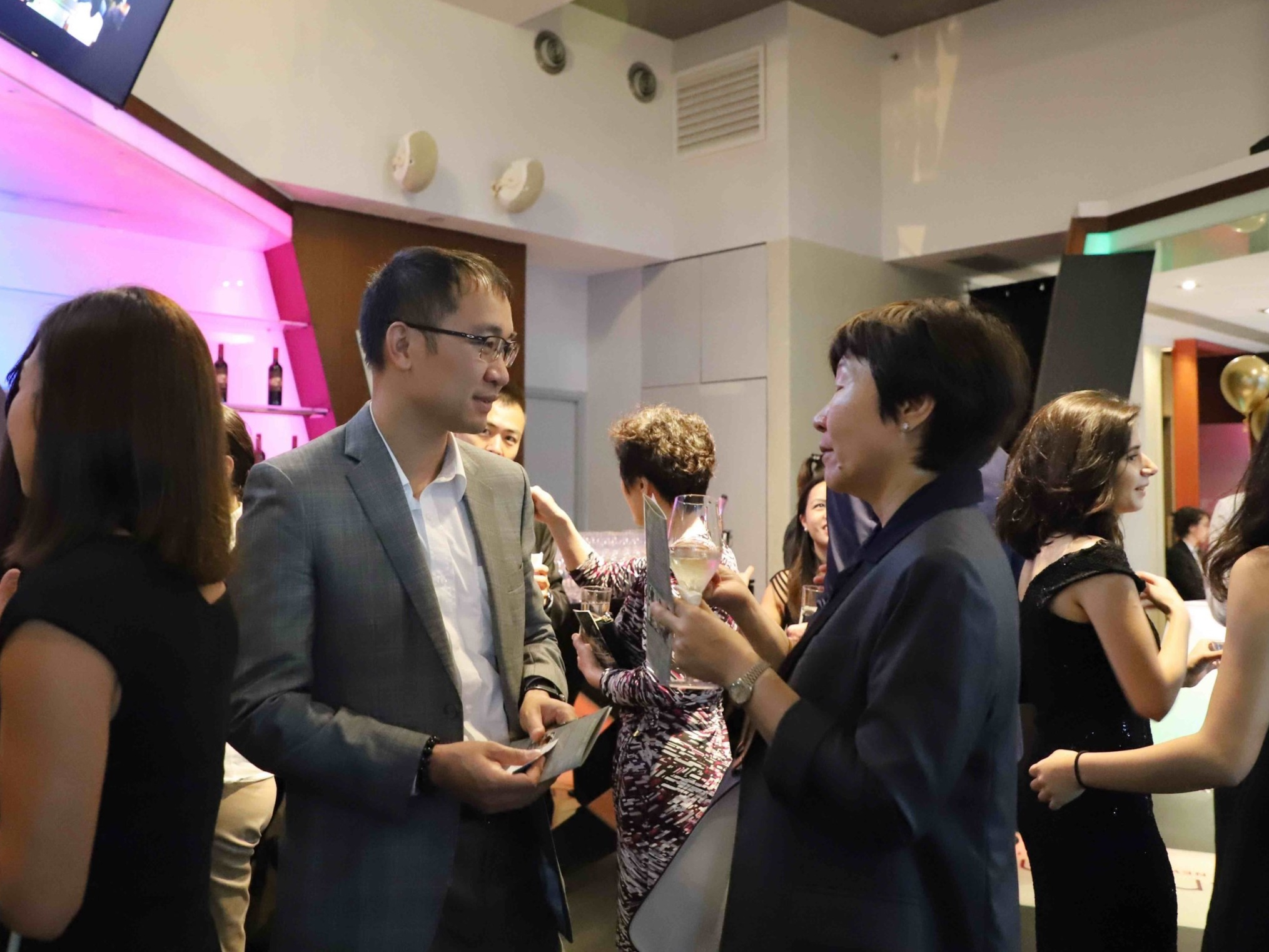 Derrick Pang (Chief Executive Officer, Chun Wo Development Holdings Limited) and Janice Chan (Director - Cost Control, Hutchison Property Group Limited)
