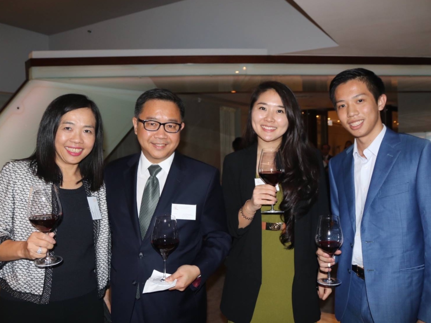 Director Jacqueline Lam (1st left) and Founder & President Joseph Wan (1st right) with Paul Tchen, Managing Director and CEO of Sir Horace Kadoorie Youth Development Foundation SHKYDF (2nd left), and Penny Peng, Corporate and Business  Affairs Manager, SHKYDF