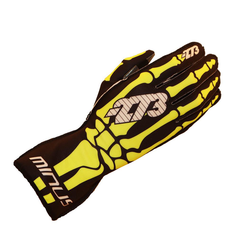 Skeletal Karting Glove Fluro