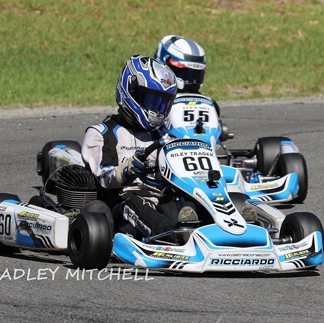Stoked with the boys' driving this weekend at the Carnival of Karts. Both @riley.trager and @lucanici55 found themselves at the pointy end with some 1-2 finishes and fastest laps throughout the KA3J heats 🔥🔥🔥 Unfortunately in the Final, Riley had a DNF with a mechanical issue whilst in the lead 😐 Luca fought back hard after being shuffled back early to bring home 5th 👊🏼 📸 Brad Mitchell | #calibremotorsport #ricciardokart #racing