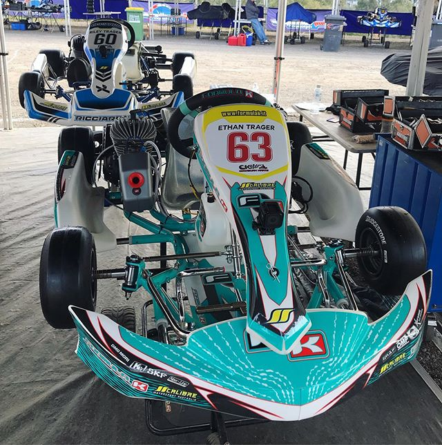 The rigs are ready for action @ City of Melbourne Titles 2019 | @formulakaus @ricciardo_kart #calibre #motorsport