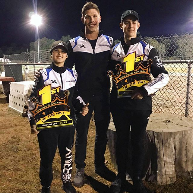Proud of these boys' results at King of the Hill 2019 🤜🏼🤛🏼 1st KA4 @lucanici55  1st KA3 @riley.trager  The @ricciardo_kart proving it's quality 💪🏻 | #calibremotorsport #driver #coach #ricciardokart @vrooam