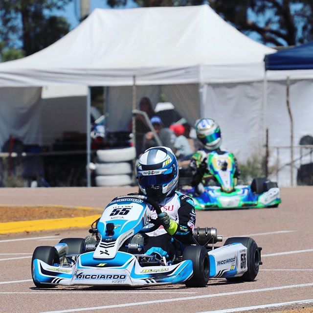 2019 WA STATE TITLE Results Huge congrats to @lucanici55 - WA KA4 Light Champion! 🏆  Brilliant driving all weekend by Luca aboard the @ricciardo_kart finishing 2nd in KA4 Heavy and 4th in KA3 after challenging for victory!  It was a difficult weekend for @riley.trager getting tangled up in race incidents throughout, put paid to a top 3 finish in KA3.  The always hard charging @ethantrager drove his way through the Cadet 12 field up to 7th with big improvements all weekend!  Luca Nici  KA4 Light 🥇 Ricciardo Kart KA4 Heavy 🥈 KA3 P4 Ethan Trager Cadet 12 P7 Riley Trager KA3 P8 | #calibremotorsport #ricciardokart #race #driver #coach @vrooam @minus273