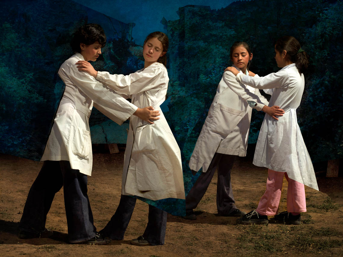 Four Children in White Coats, 2017