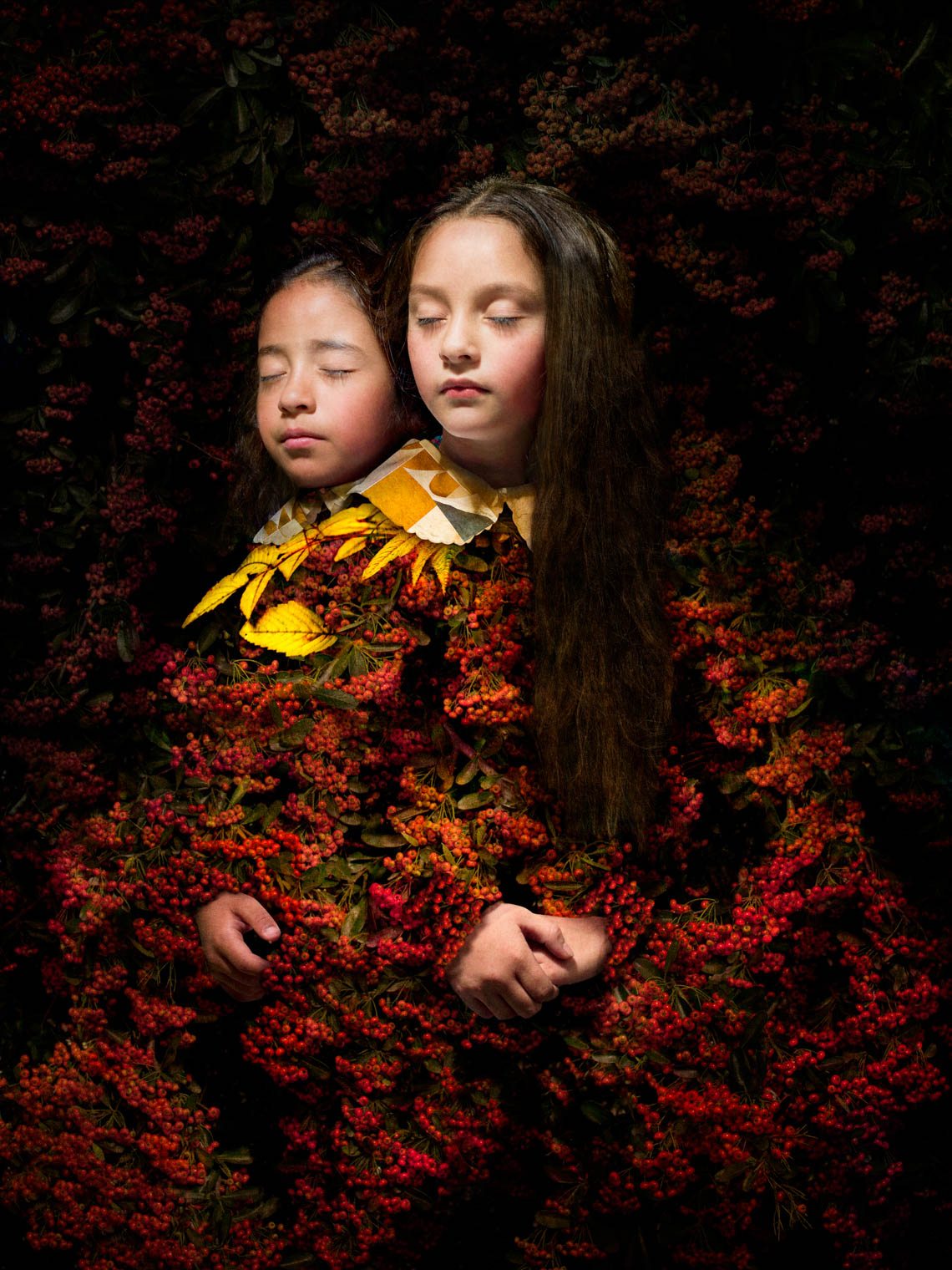 Girls with Red Berries, 2017