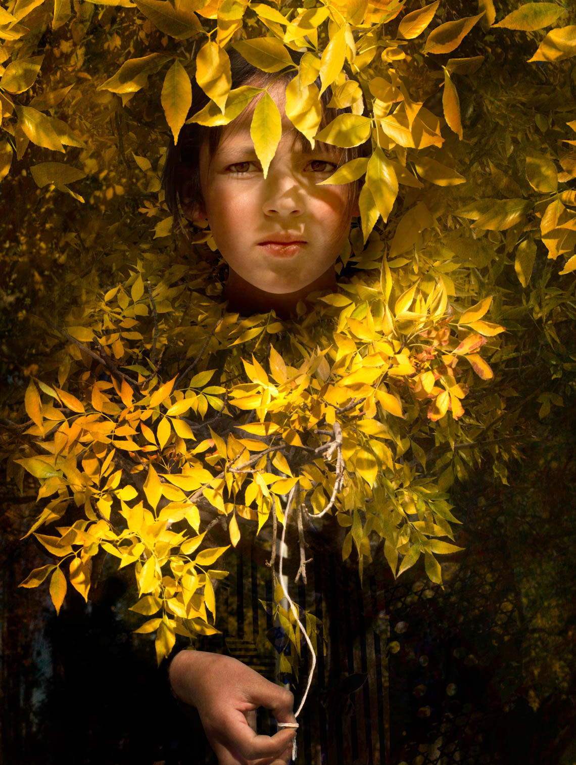 Girl with Yellow Leaves, 2017