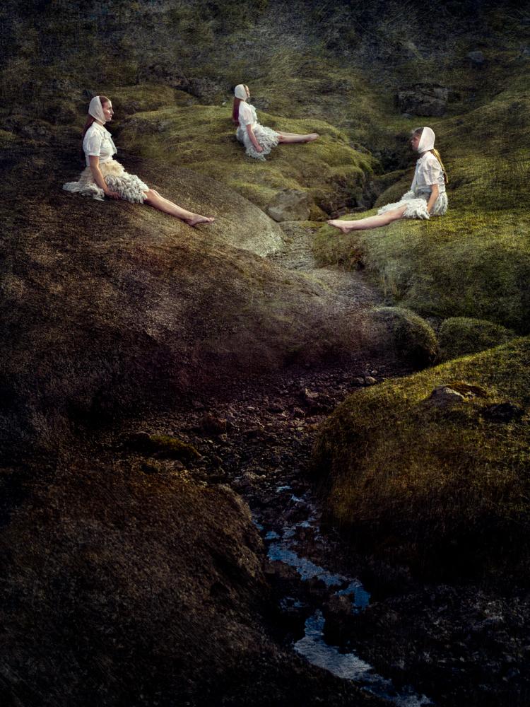 Sára, Armgarð and Alda on a Hill, 2014