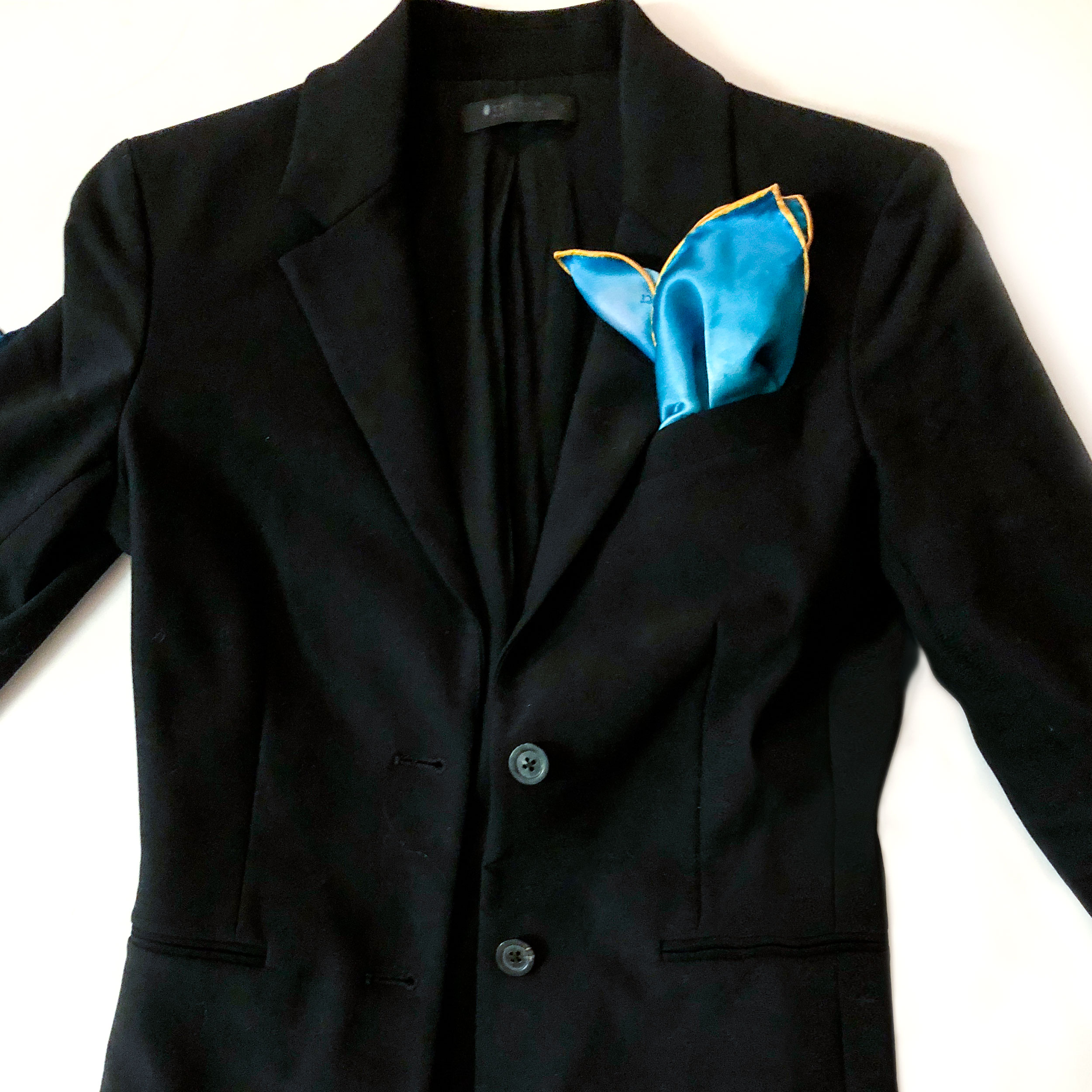 The Little Black Blazer - Pair with color pocket square