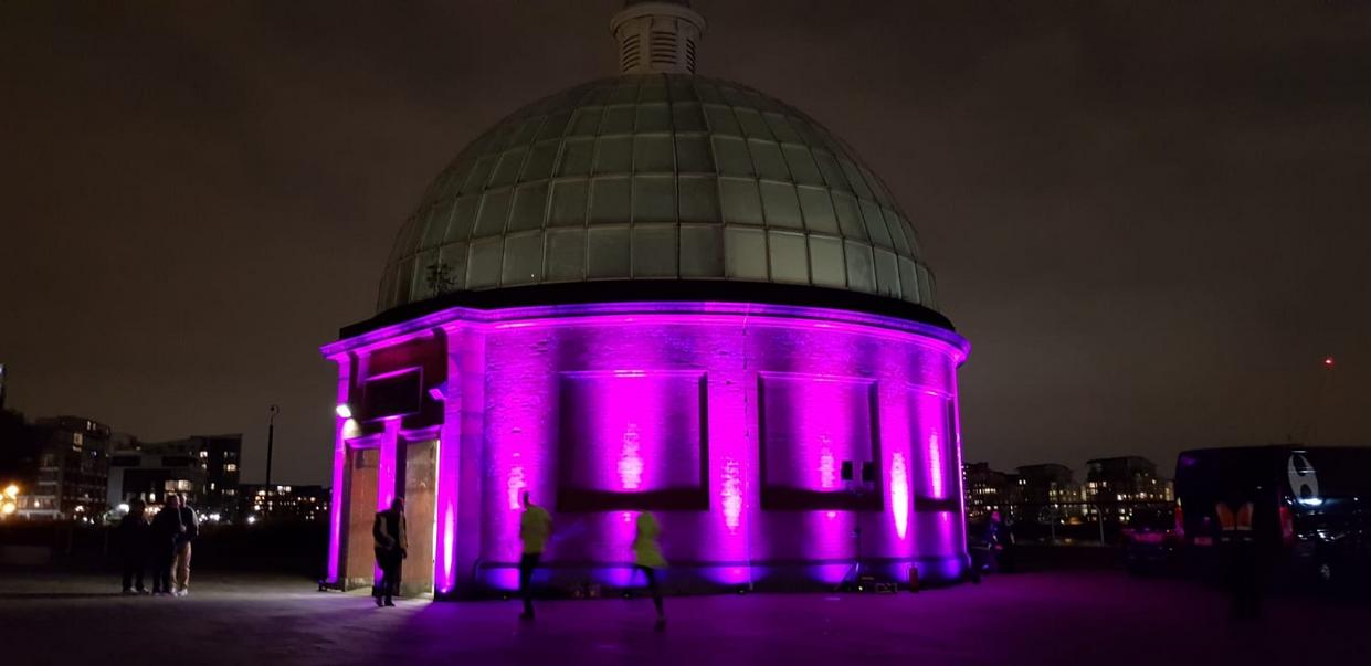 'run the night' 2018: sound and light installation -