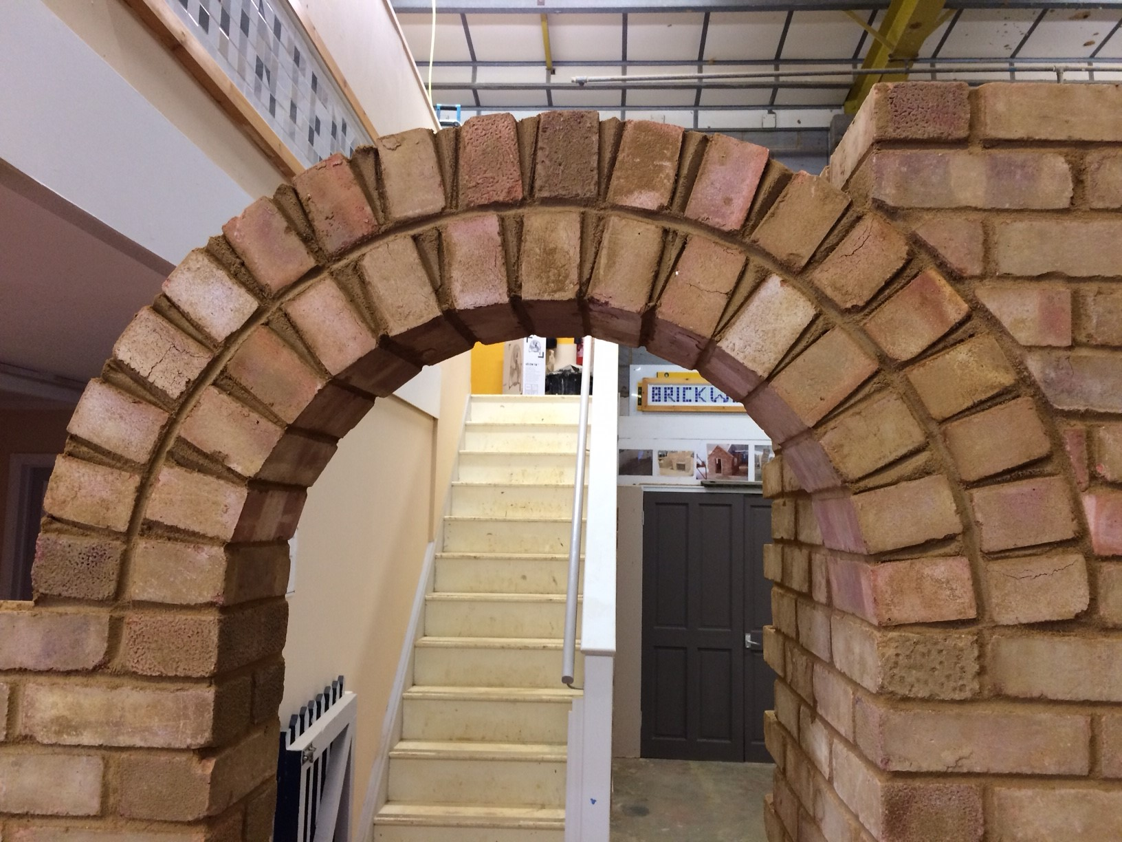 A brick archway constructed by a Key Stage 4 student