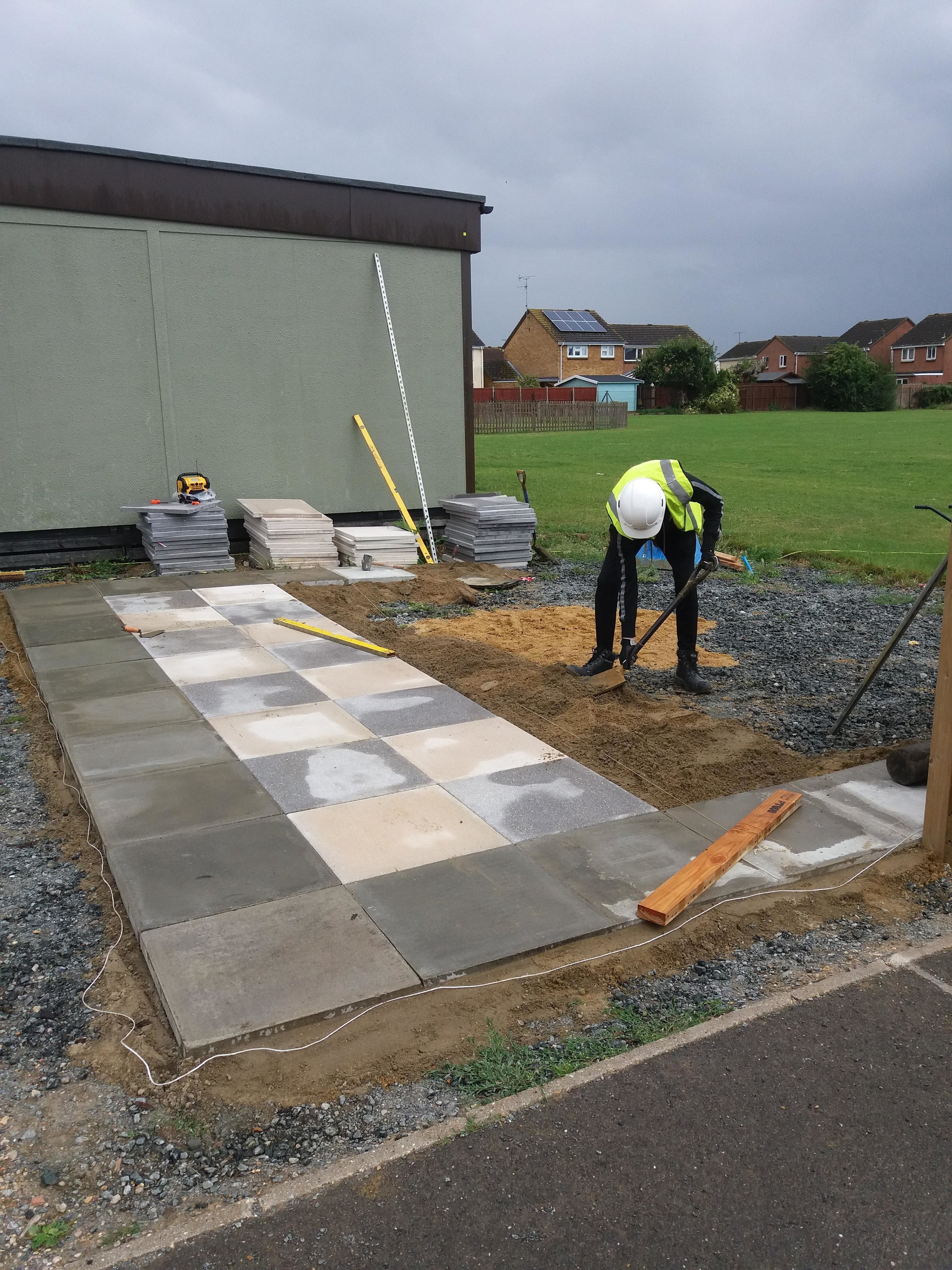 A student putting new-found skills into practice on a work experience project