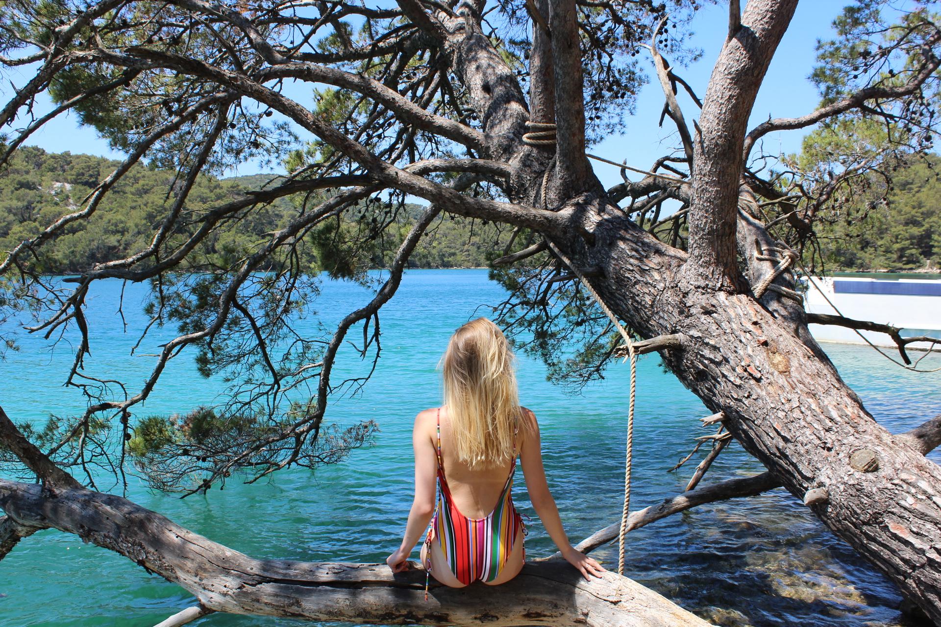 Swim in the Adriatic Sea in Croatia -