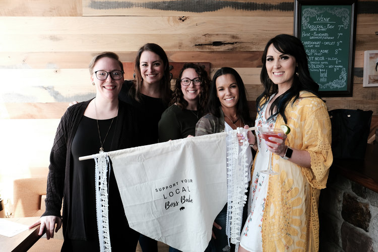 Carrie of Rusterior, Alyson of Rust Belt Love, Christy of Wild Blossom Hollow, Heather of Beulahs General Store, and me!