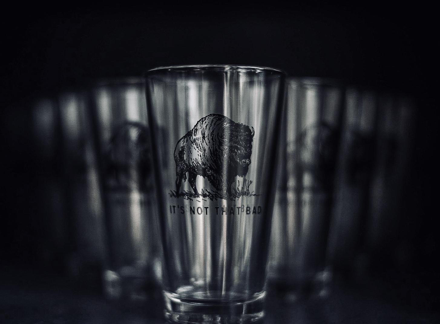 Oxford pennant pint glass