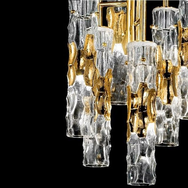 Details of bamboo suspension, crafted with Murano glass and gold painted. Also available in chrome, copper and gunmetal finish . . . . . #interiordesign #luxuryhomes #luxurylighting #luxurydesign #murano #elledecor #worldofinteriors #designerhome #luxe #luxedesign #luxedecor #interiors #interior123 #interiors125 #interiordecorating #homedecor