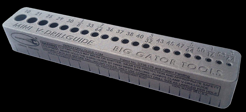 The Mini Standard (Imperial) V-DrillGuide - Full product name: SDGMINI V-DrillGuideHoles: 21Measurements: 10, 21, 25, 29, 30, 1/8