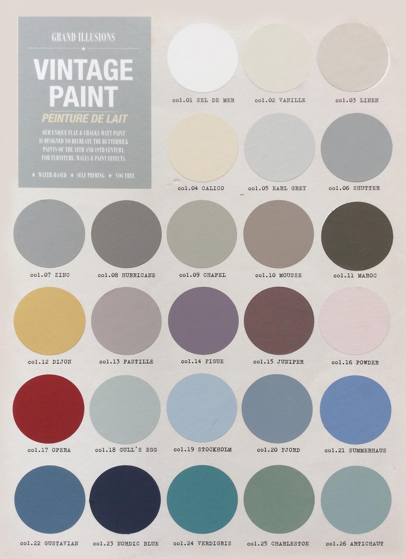 Grand Illusions Vintage Paint Colour Palette