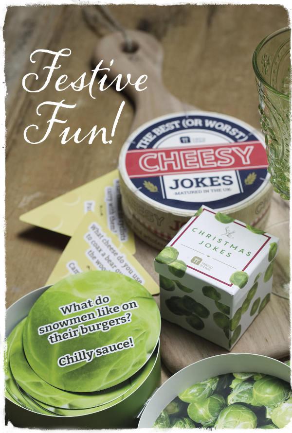 Boxes of novelty festive jokes