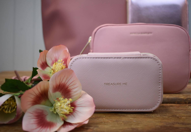 Pink 'Treasure Me' mini jewellery box by Estella Bartlett