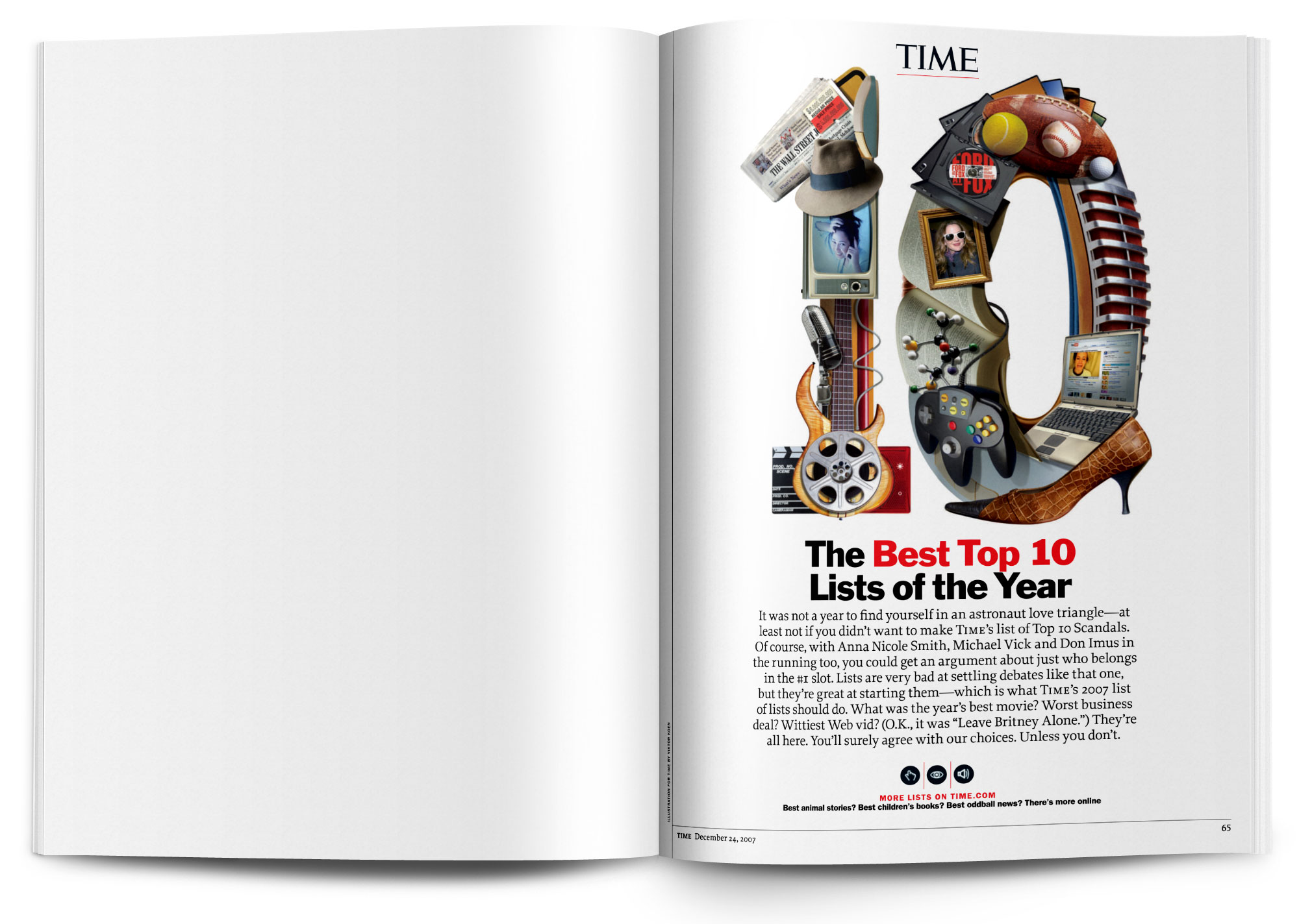 Art directed and designed the Best Top 10 Lists of the Year