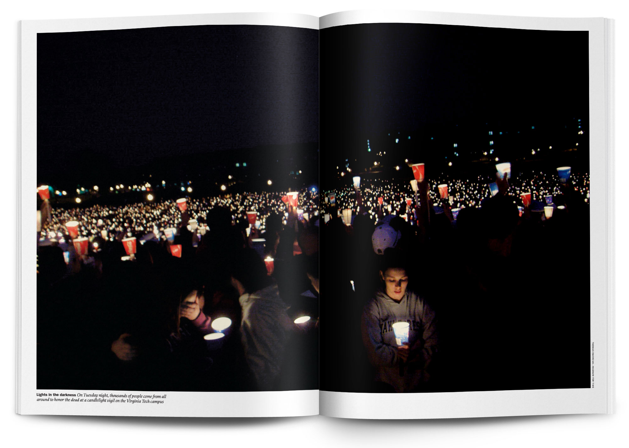 Art directed and designed the breaking news package on the Virginia Tech shooting