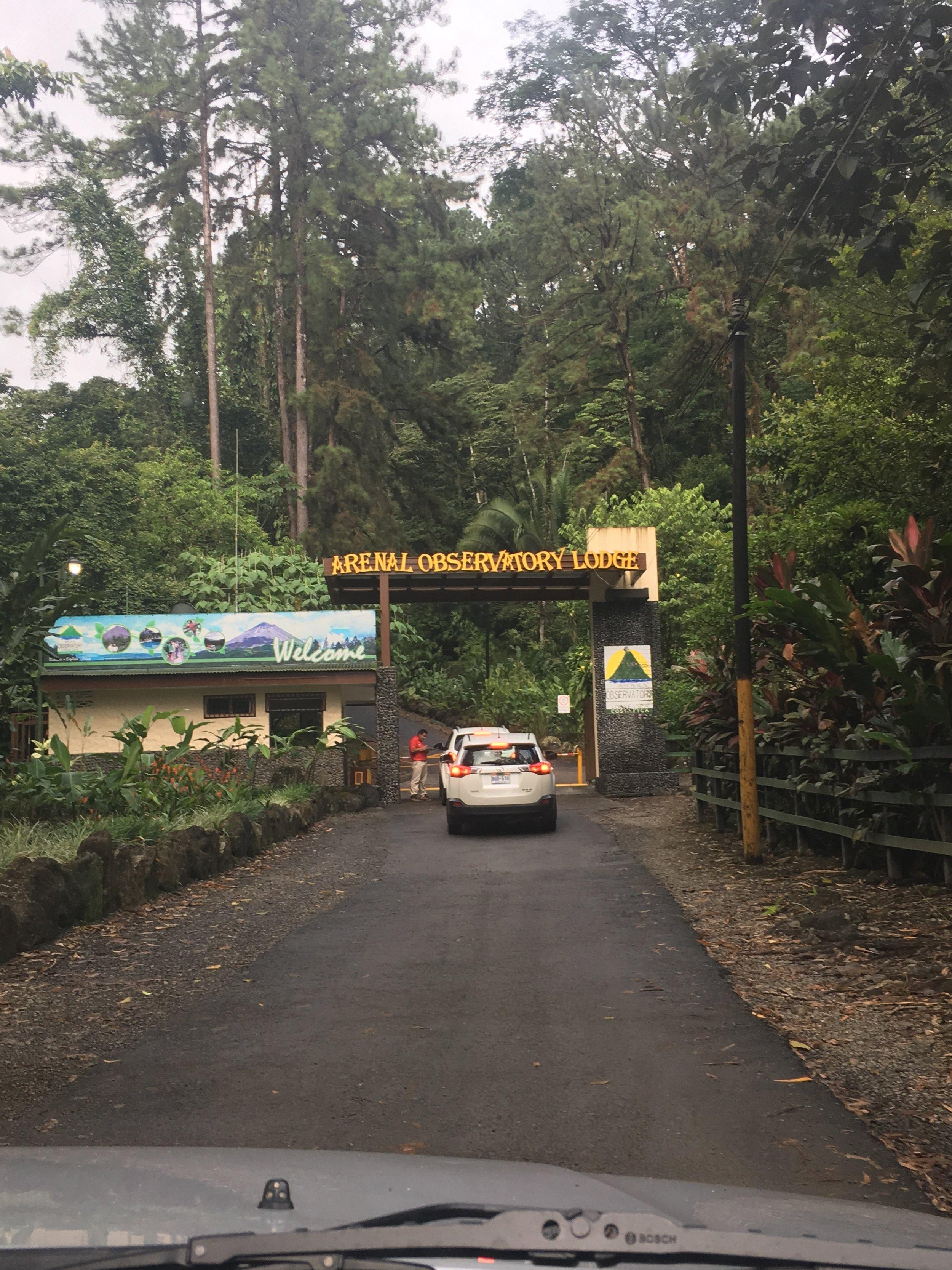 Arenal Observatory entrance