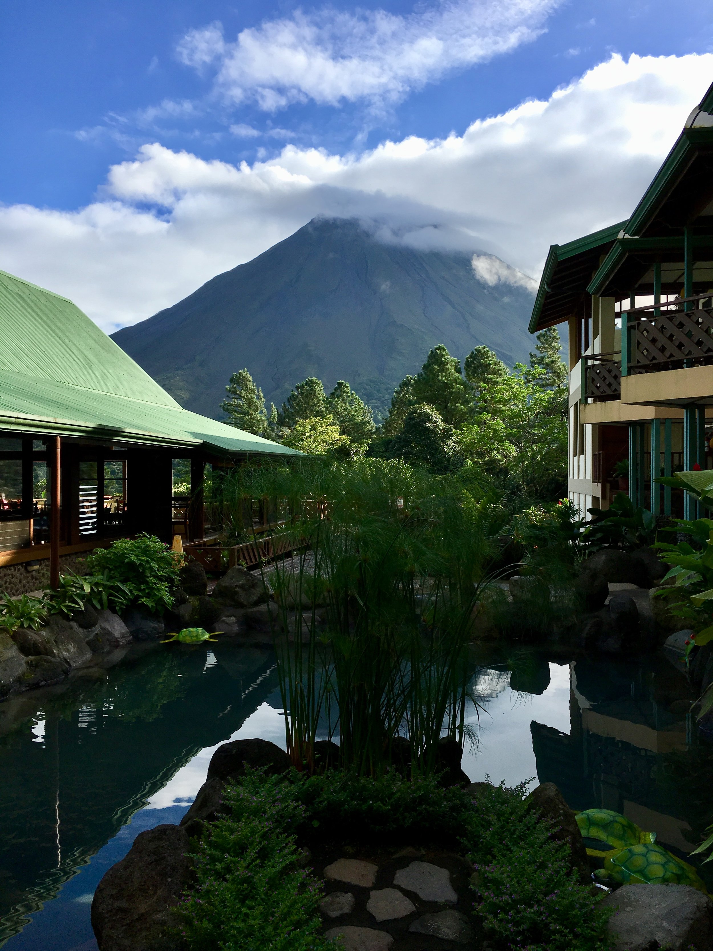 Arenal Volcano as seen from the Lodge