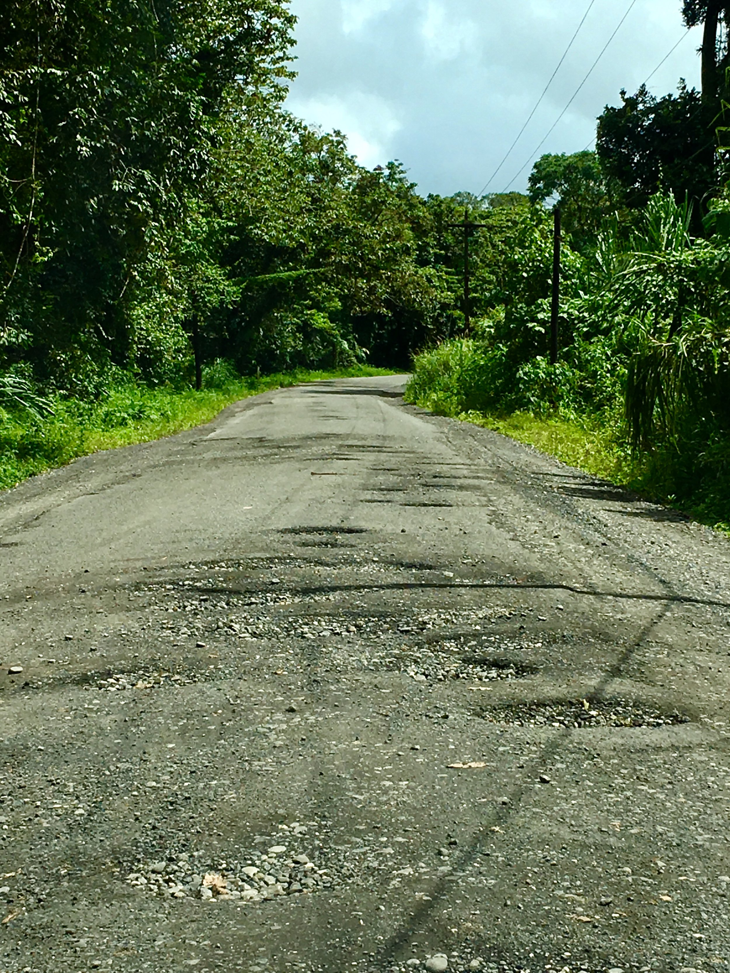 3-mile pothole-filled road around Arenal lake - we drove this 6 times!!