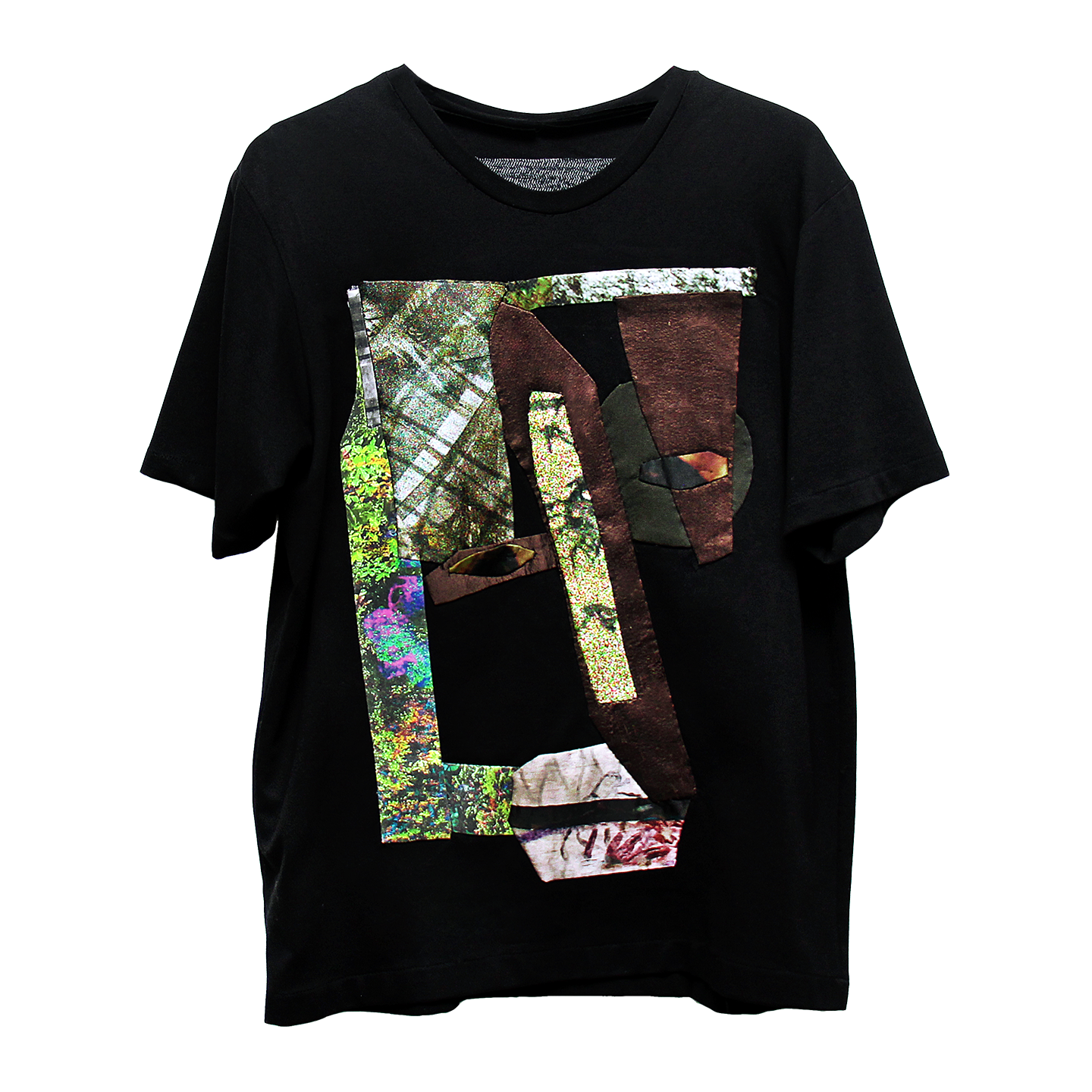 SENTIENT_tshirt1. - The constant ambush from lush tropical menagerie scapes drive the mentality to curate a commentary about this nostalgic effect but with a satire twist.