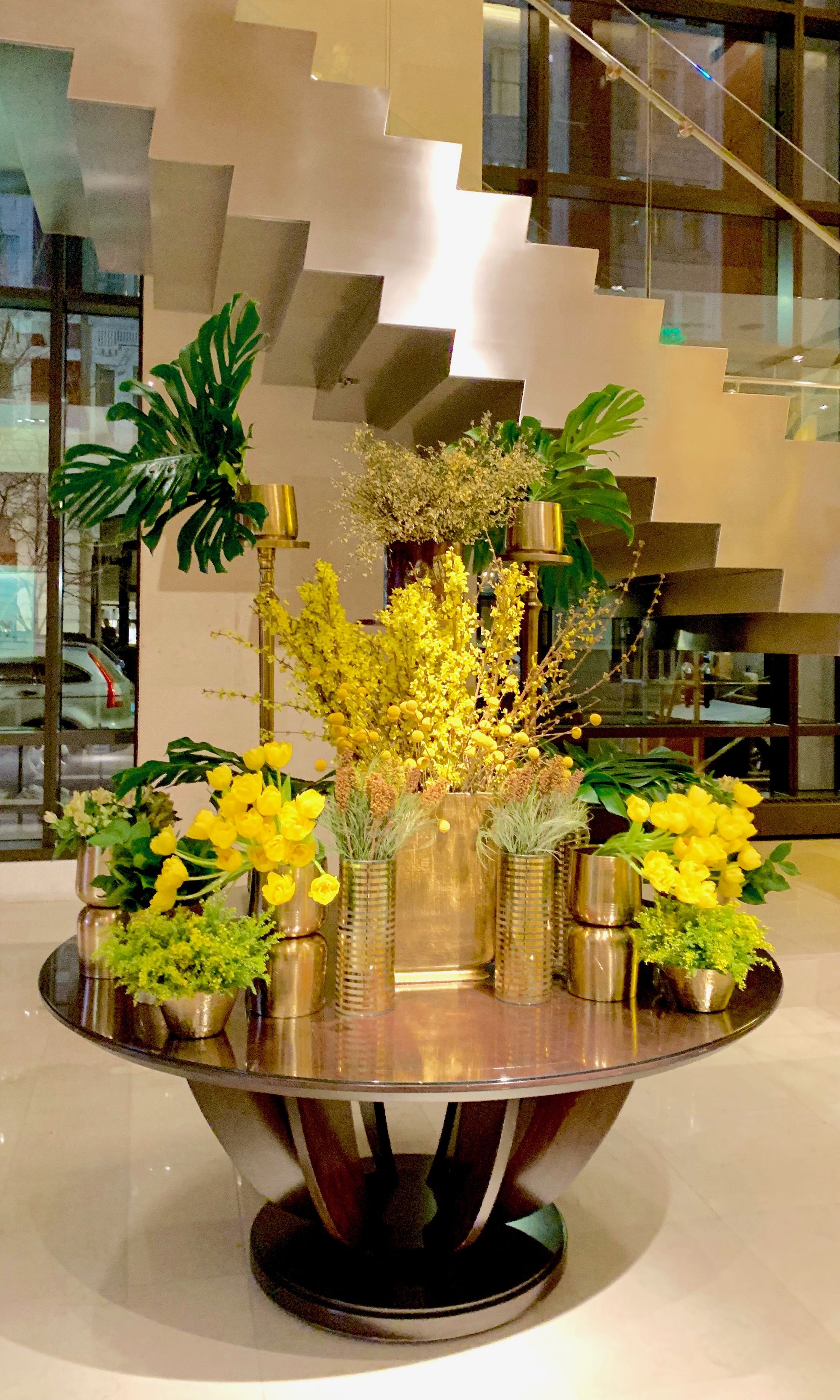 Four Seasons Denver , Arrangement designed by  Tara Worley, Lead Hotel Designer  for  The Perfect Petal