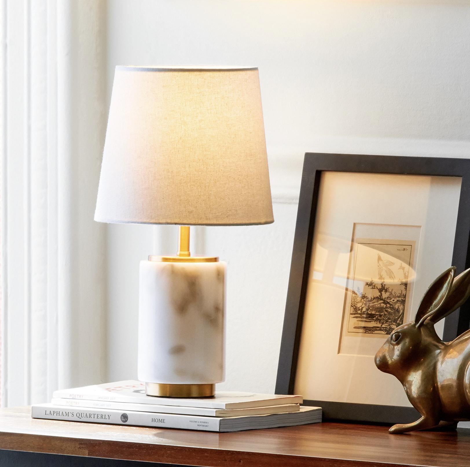 Rivet Modern Marble Mini Lamp