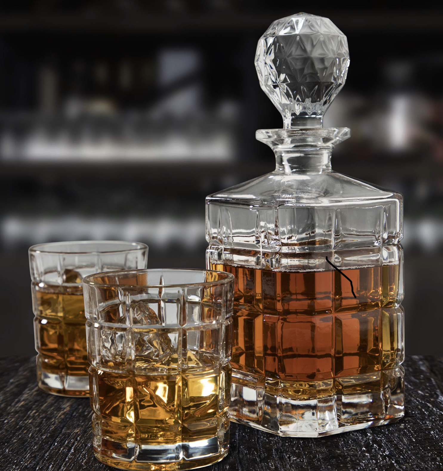 Regal Trunk & Co. 5-piece Whiskey Decanter Set