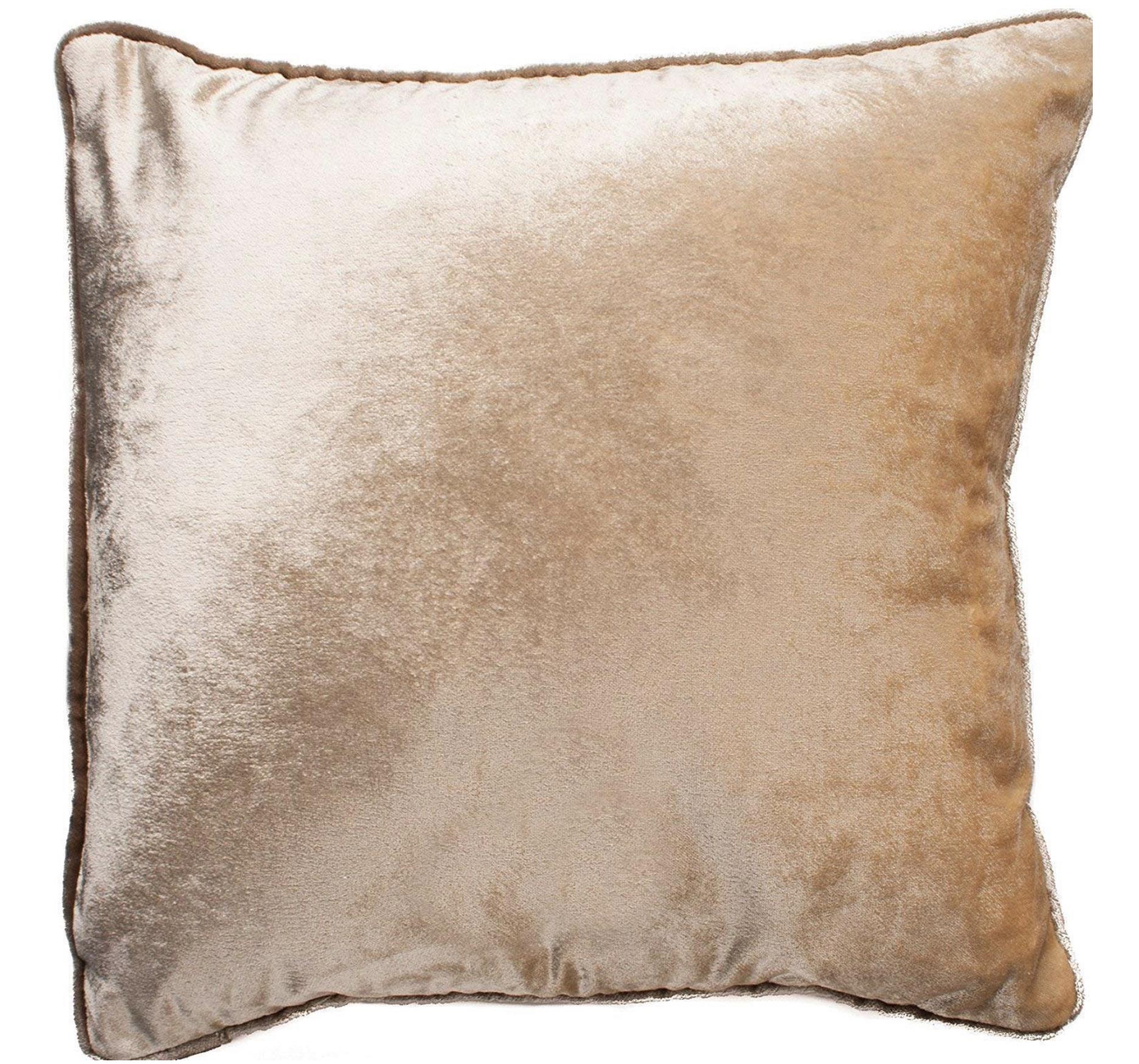 McAlister Textiles Velvet Euro Pillow Sham | Champagne Gold