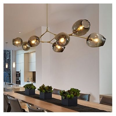 Abstract Post Modern Multi Arm Chandelier
