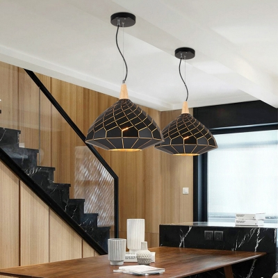 Black Art Deco Hanging Pendants