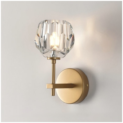 Clear Glass Suspenders Wall Sconce