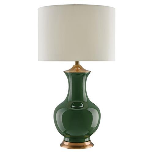 Disa Global Bazaar Forest Green Genie Table Lamp