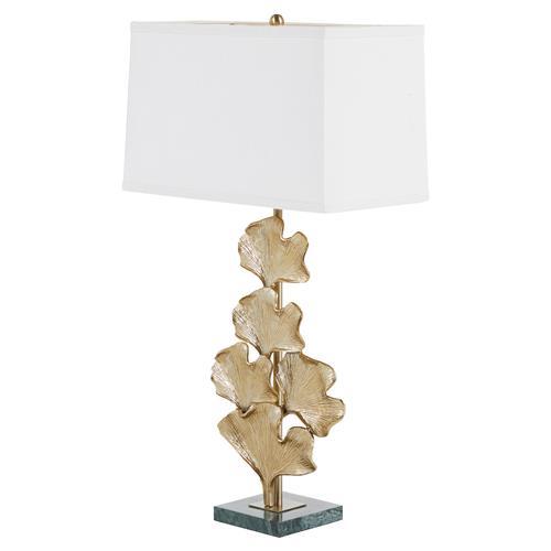 Greer Hollywood Regency Jade Leaf Lamp