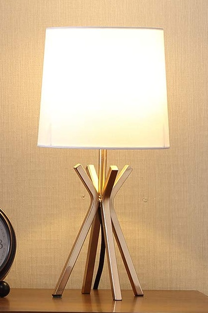 Popilion Noble Gold Metal Base Table Lamp