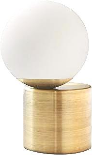 Rivet Glass Ball Metal Table Lamp